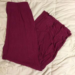 Berry jersey maxi skirt
